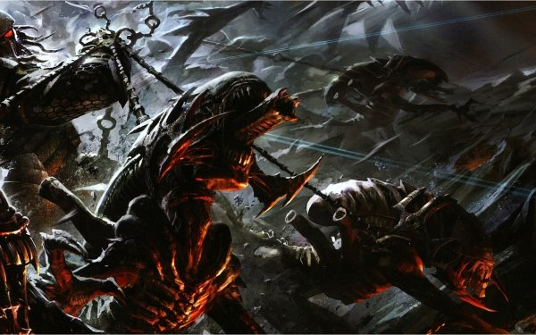 Videospel Aliens Vs. Predator Alien Strijd Game Predator HD Wallpaper | Achtergrond