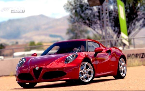 Video Game Forza Horizon 3 Forza Alfa Romeo Alfa Romeo 4C HD Wallpaper | Background Image