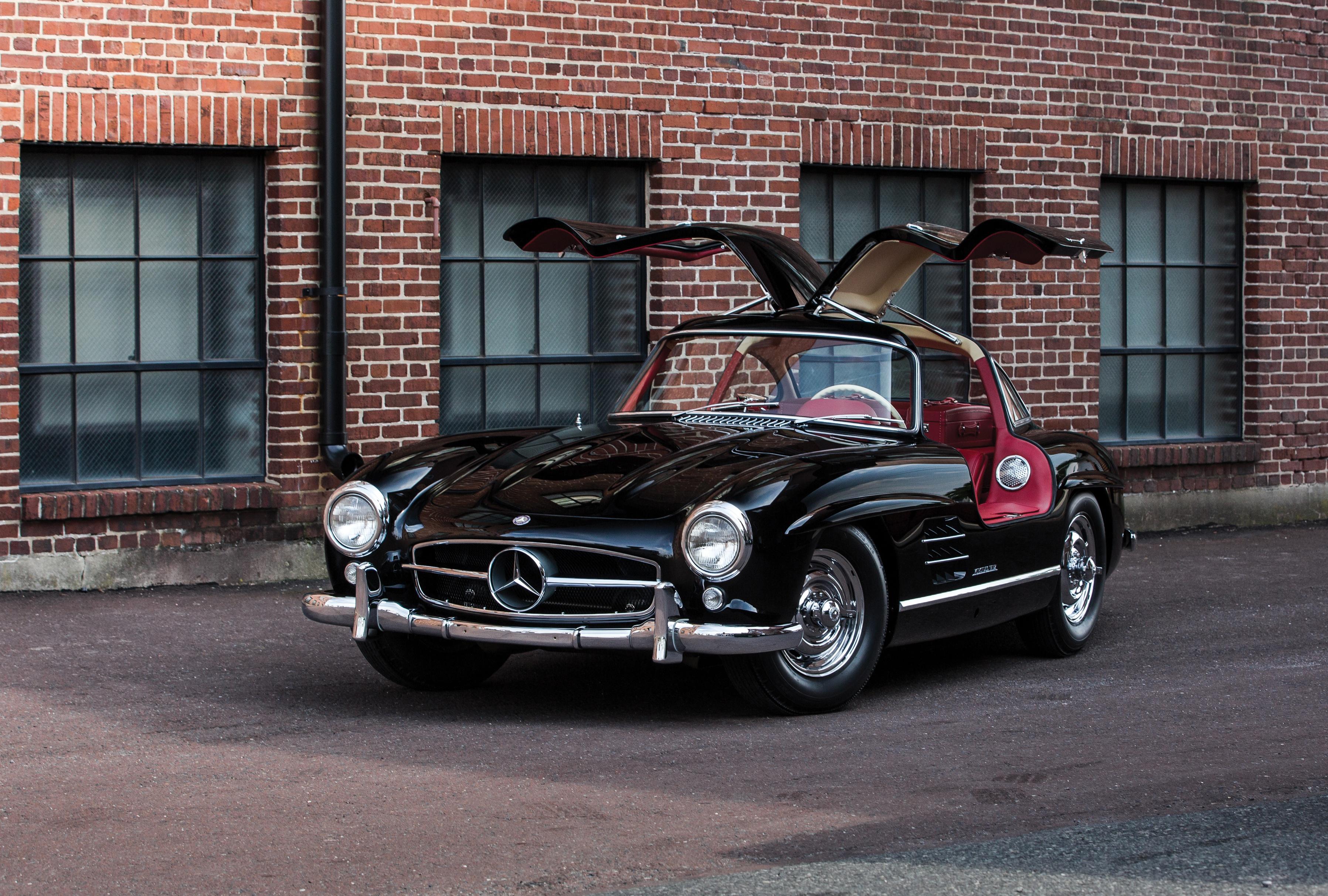 Black Mercedes-Benz 300SL Gullwing HD Wallpaper ...