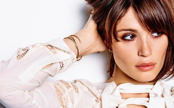 Celebrity Gemma Arterton Actresses United Kingdom Actress Brunette Brown Eyes Face HD Wallpaper | Background Image