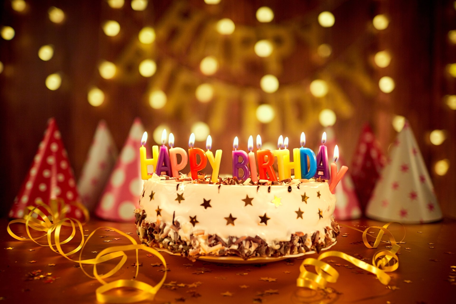 Holiday - Birthday  Happy Birthday Cake Colors Candle Pastry Wallpaper