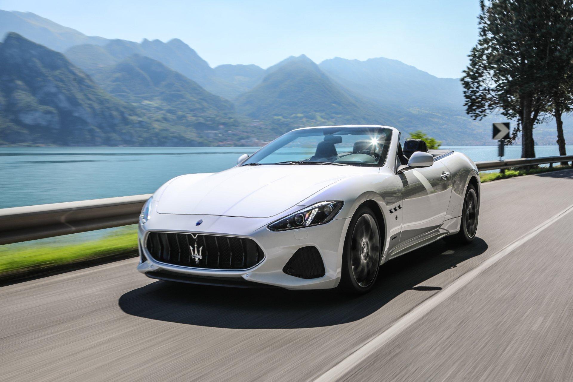 座驾 - Maserati GranCabrio  玛莎拉蒂 Cabriolet White Car 汽车 交通工具 Supercar Grand Tourer 壁纸