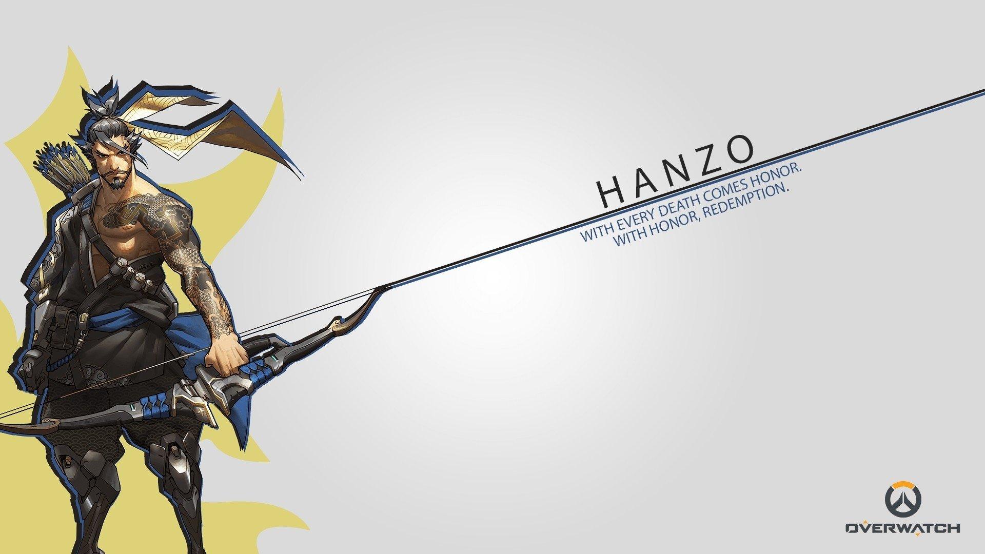 Overwatch Dual Screen Wallpaper: Hanzo HD Wallpaper