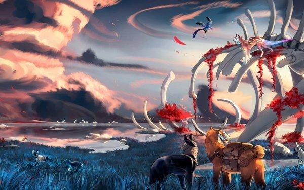 Fantasy Animal Fantasy Animals Landscape Cloud Bones HD Wallpaper | Background Image