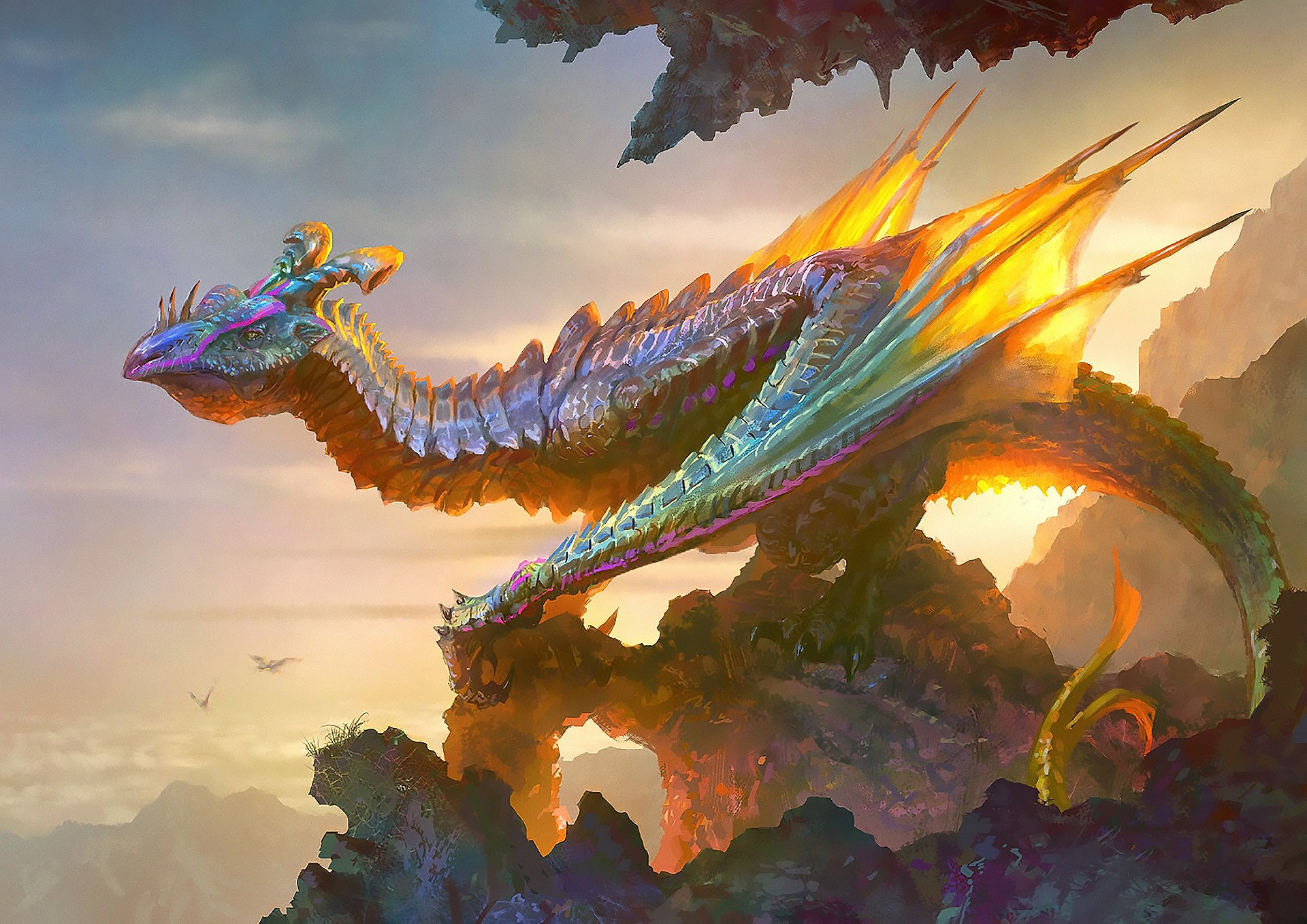 Fantasy - Dragon  Wings Wallpaper