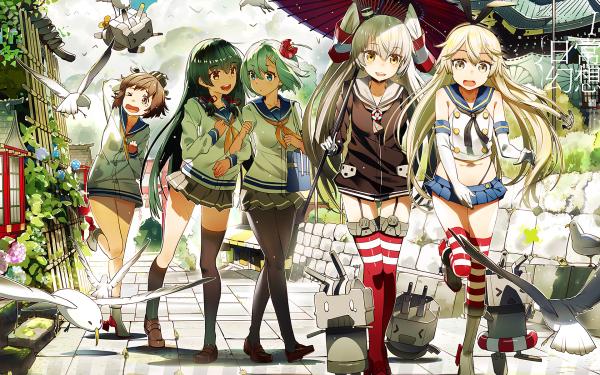 Anime Kantai Collection Shimakaze Rensouhou-chan Rensouhou-kun Amatsukaze Hamakaze Isokaze HD Wallpaper | Background Image