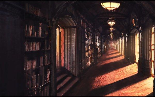 Fantaisie Library Sunlight Fond d'écran HD | Arrière-Plan