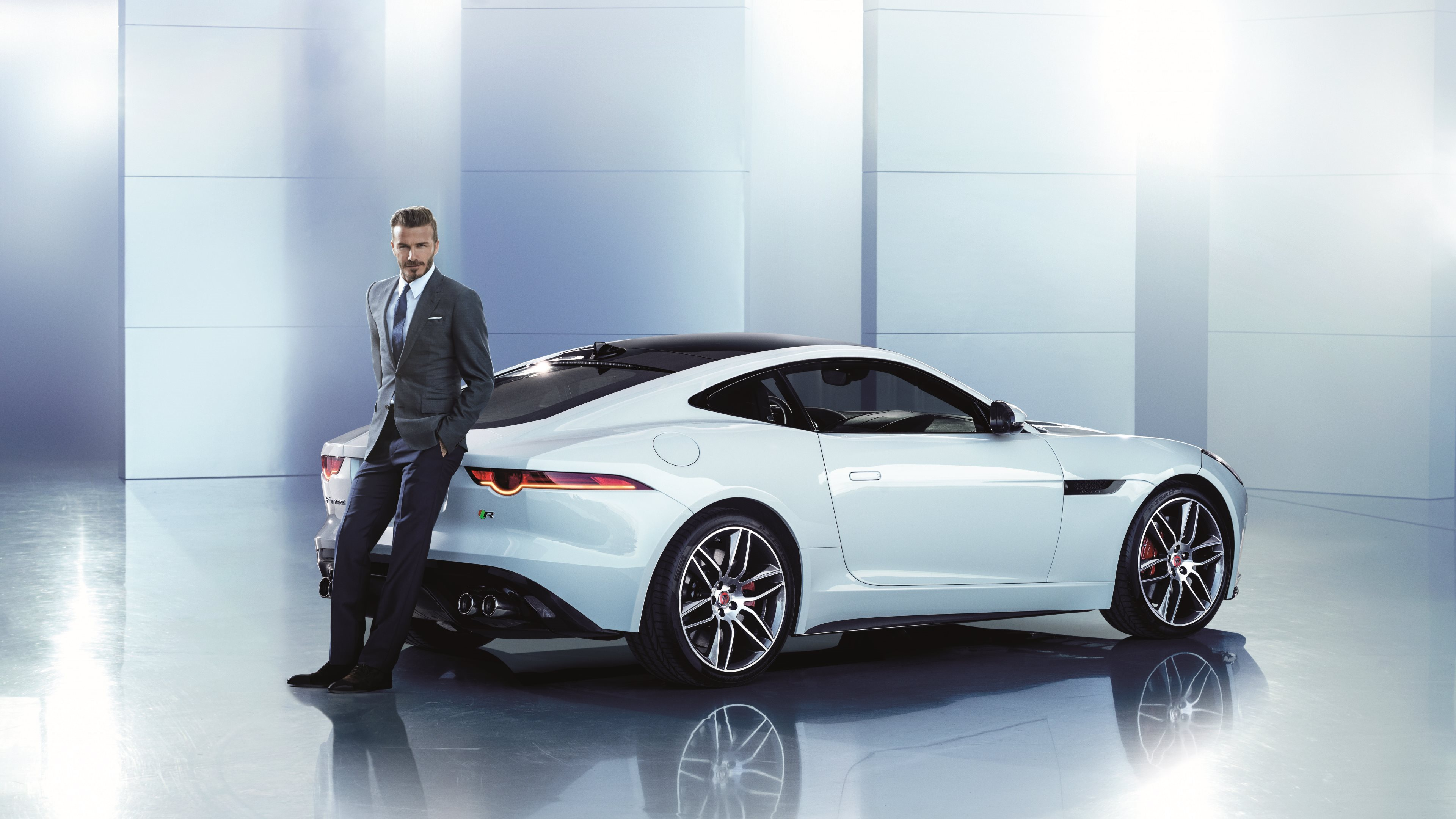 Vehicles   Jaguar F Type Jaguar Cars Car White Car Sport Car David Beckham  Wallpaper