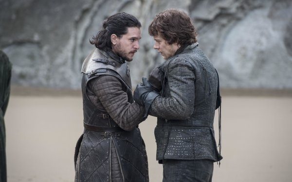 TV Show Game Of Thrones Jon Snow Theon Greyjoy Kit Harington Alfie Allen HD Wallpaper | Background Image