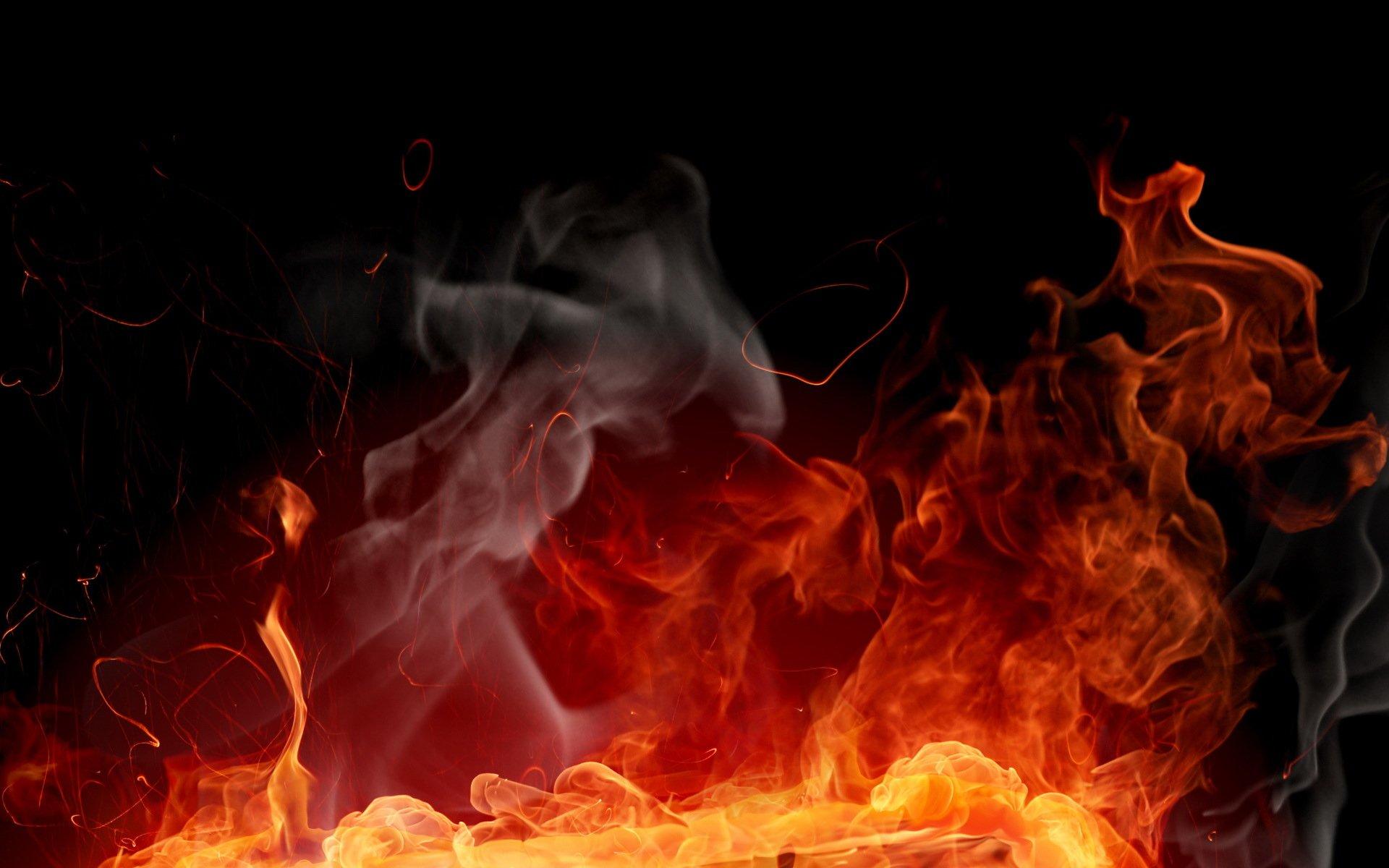 Artistisk - Elemental  Flame Ps3 Game Batman Röd Eld Bakgrund