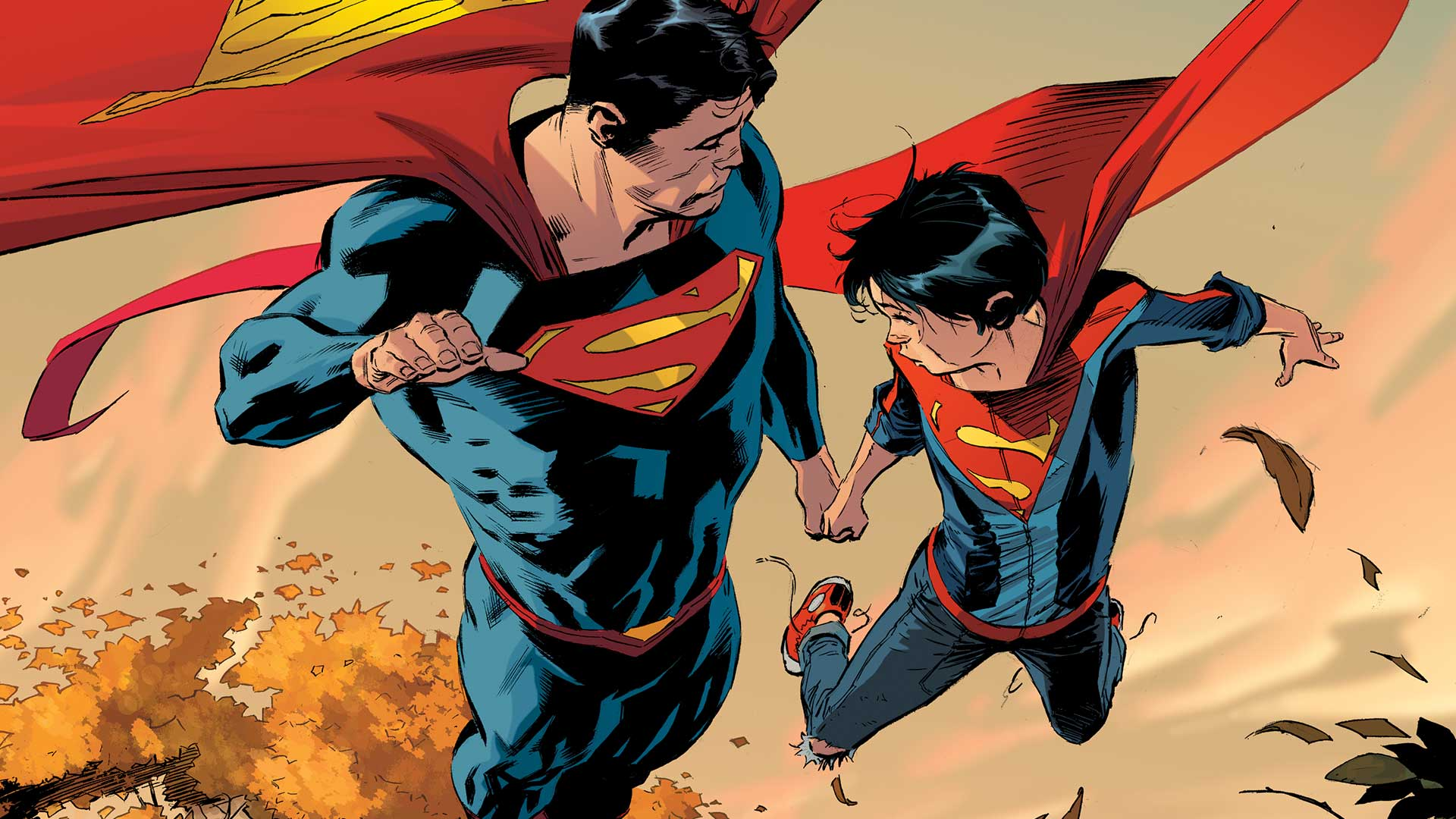 Superman And His Son Hd Wallpaper Hintergrund 1920x1080 Id
