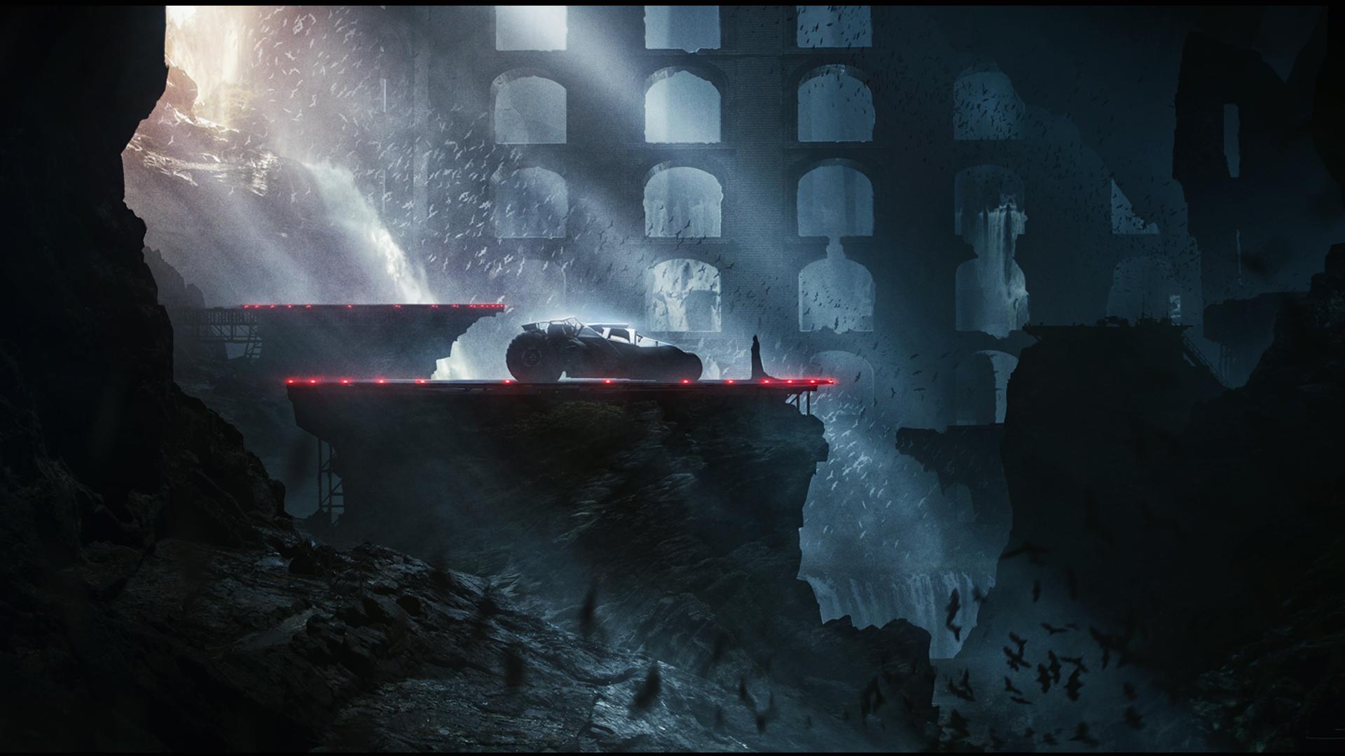 Comics - Batman  Batmobile Batcave DC Comics Wallpaper