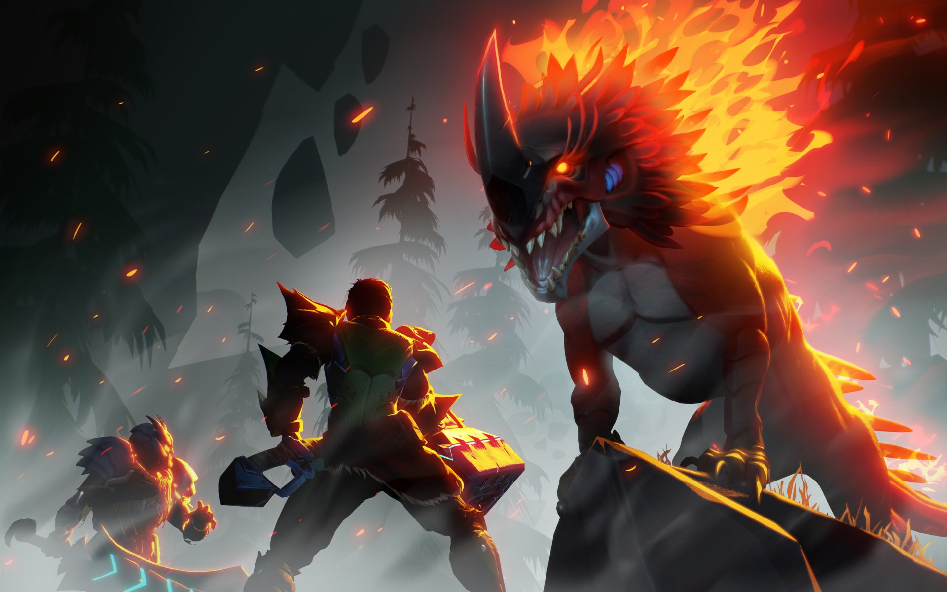 Video Game - Dauntless  Creature Warrior Wallpaper