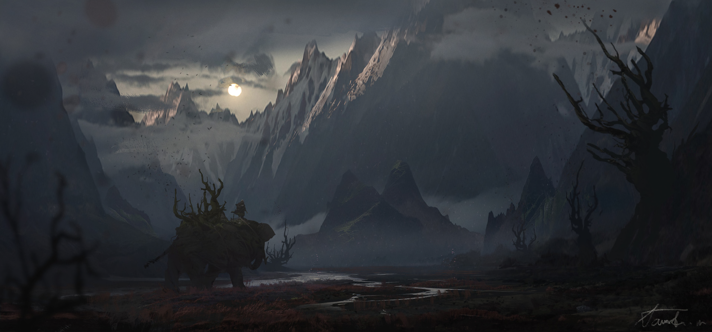 Fondos de pantalla de paisajes oscuros