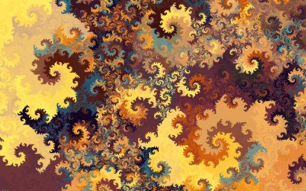 Abstract Fractal Artistic Pattern Swirl Digital Art HD Wallpaper | Background Image
