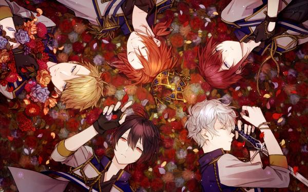 Video Game Ensemble Stars Ritsu Sakuma Tsukasa Suou Leo Tsukinaga Arashi Narukami Izumi Sena HD Wallpaper | Background Image