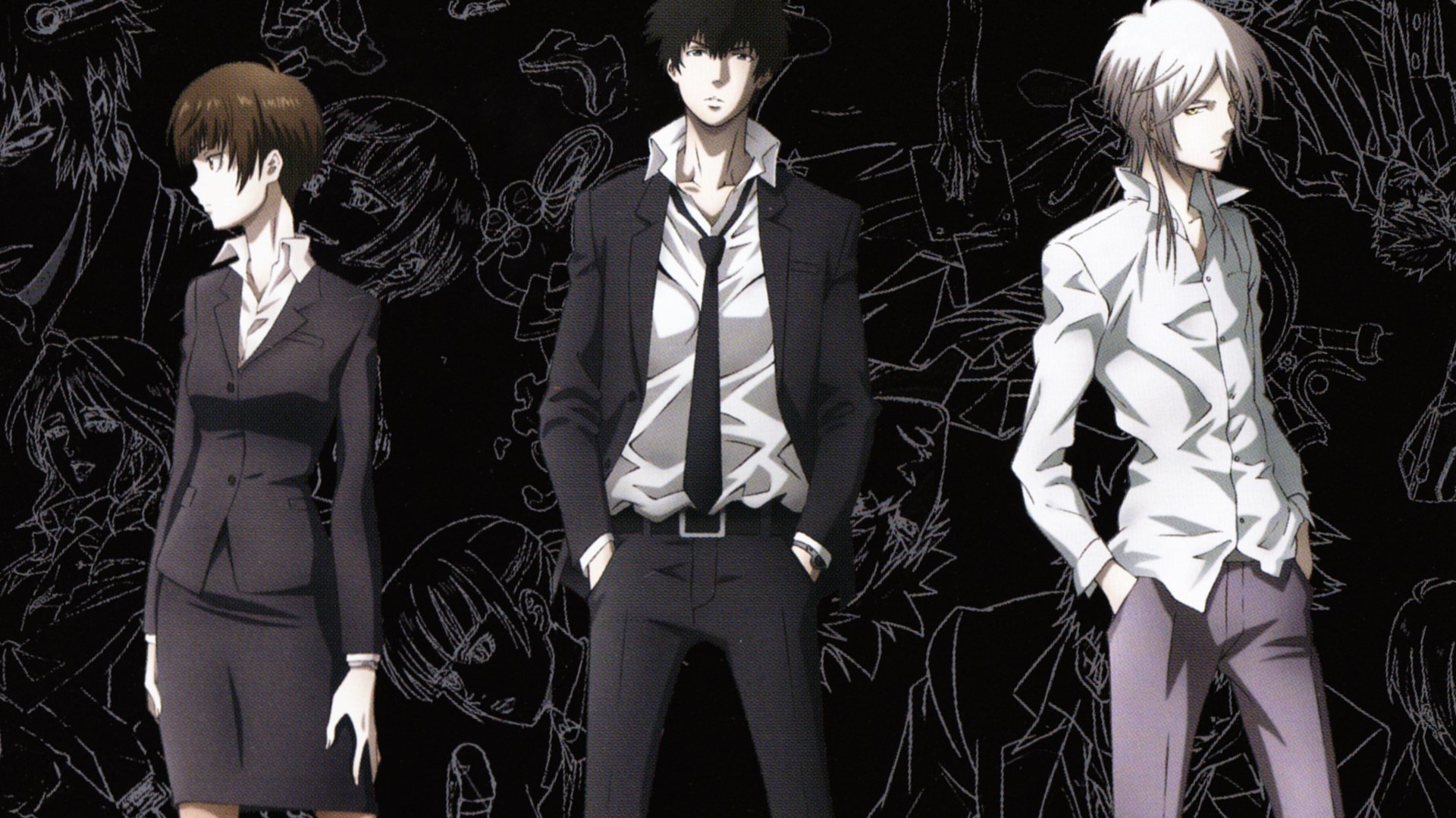 Psycho Pass Inspecters And The Villain Hd Wallpaper Background