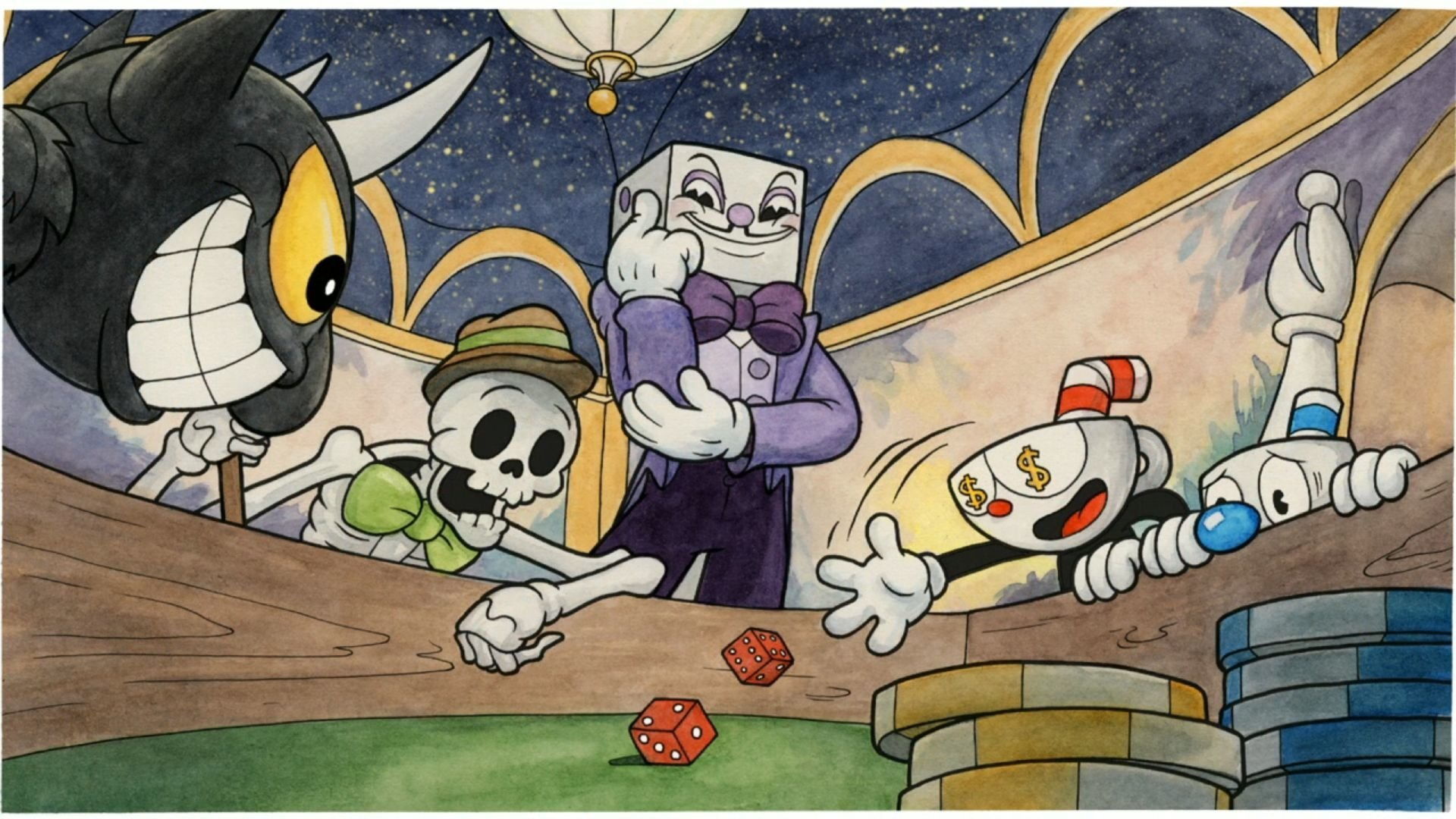 Video Game - Cuphead  The Devil (Cuphead) Mugman (Cuphead) King Dice (Cuphead) Wallpaper