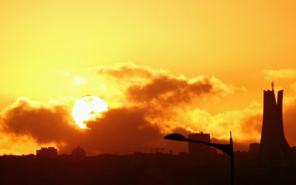 Photography Sunset Algeria Algiers Africa Sky Cloud Sun Landscape Memorial HD Wallpaper | Background Image