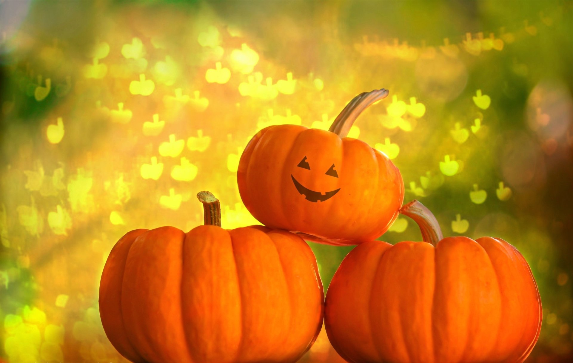 Holiday - Halloween  Holiday Pumpkin Gourd Face Smile Wallpaper