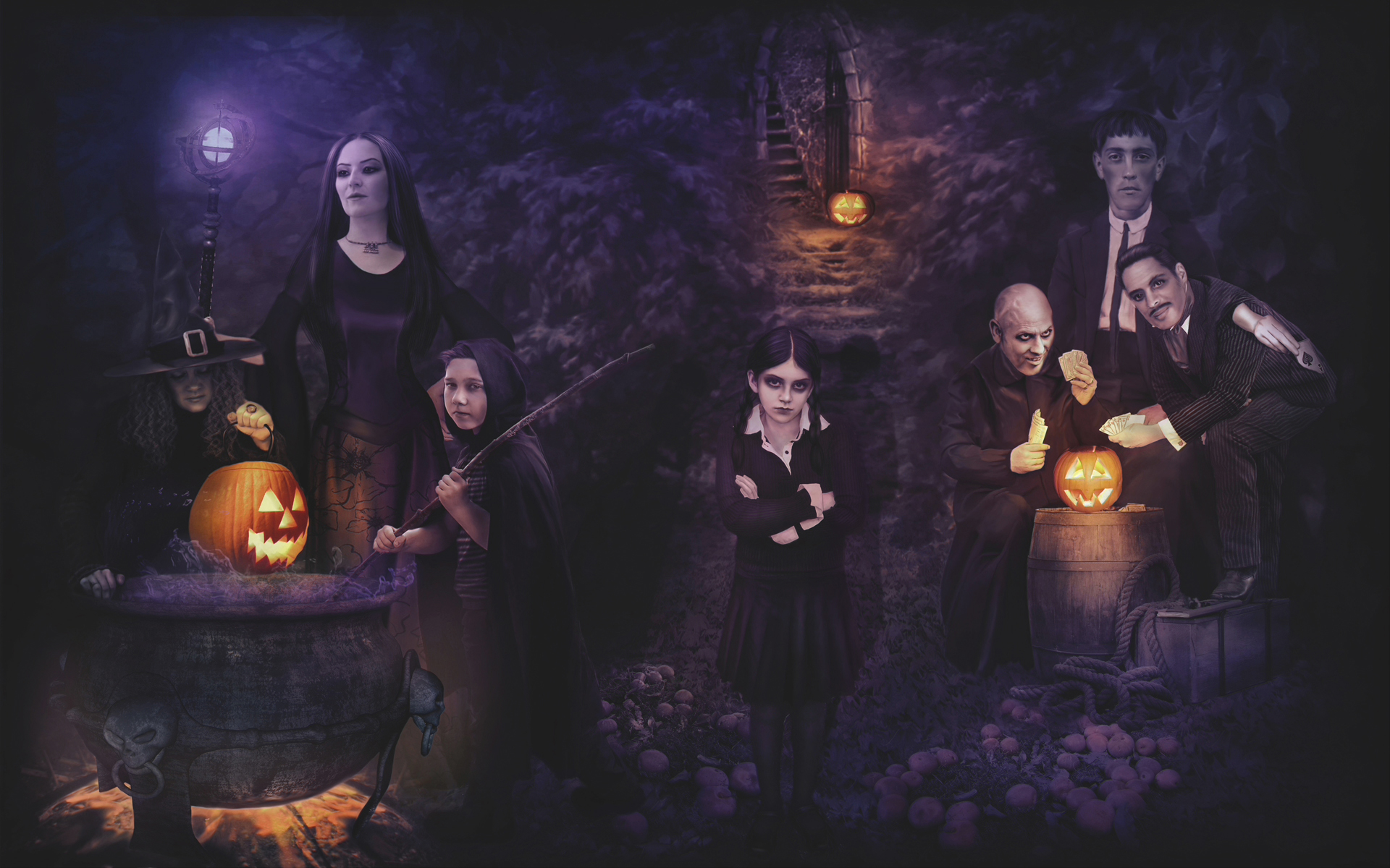 Holiday   Halloween The Addams Family Holiday Movie Jack Ou0027 Lantern  Wallpaper