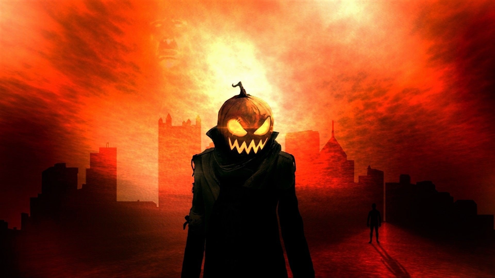 Holiday - Halloween  Holiday Jack-o'-lantern Pumpkin Head Man Coat Wallpaper
