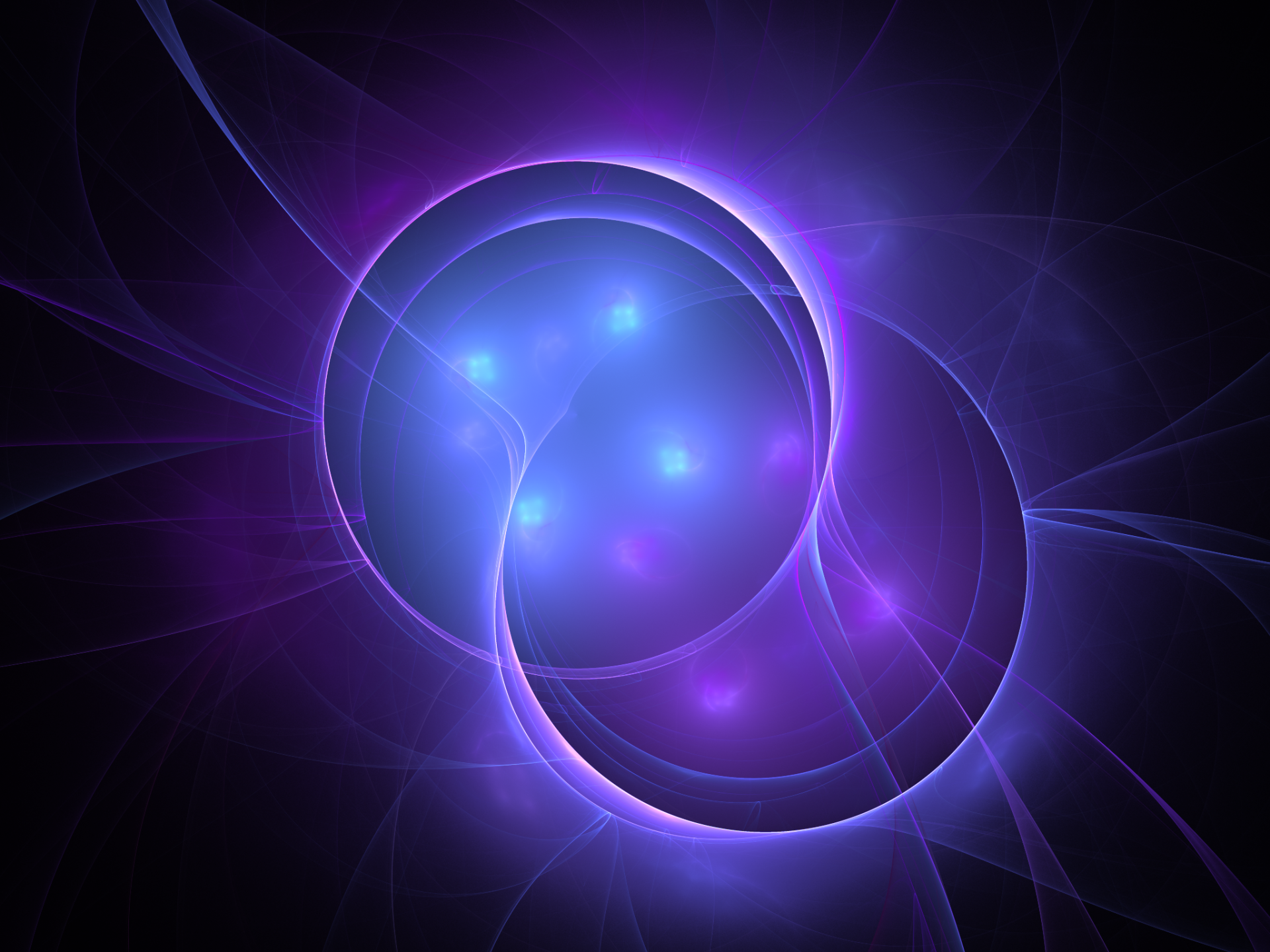 Abstract - Fractal  Plasma Apophysis (software) Digital Art Violet Energy Circle Wallpaper