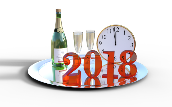 Holiday New Year 2018 New Year Champagne HD Wallpaper   Background Image