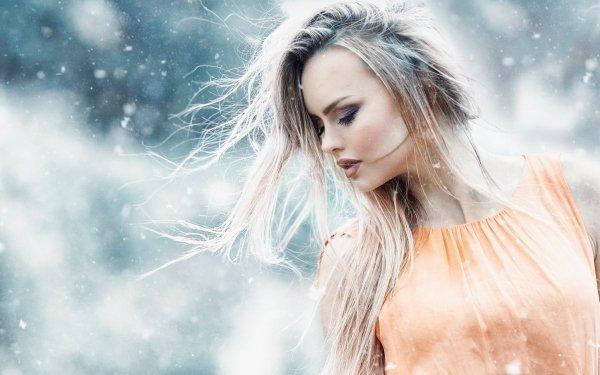 Femmes Top Model Top Modèls Humeur Blonde Depth Of Field Fond d'écran HD | Image