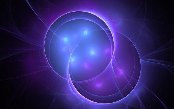 Abstract Fractal Plasma Apophysis Violet Energy Circle HD Wallpaper | Background Image