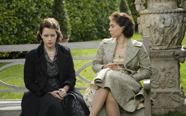TV Show The Crown Queen Elizabeth II Princess Margaret Claire Foy Vanessa Kirby HD Wallpaper | Background Image