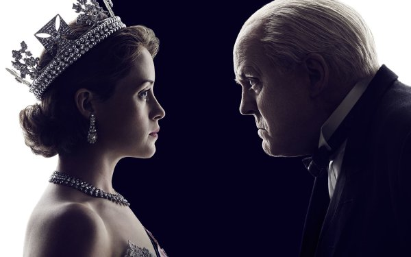 TV Show The Crown Queen Elizabeth II Winston Churchill Claire Foy John Lithgow HD Wallpaper | Background Image