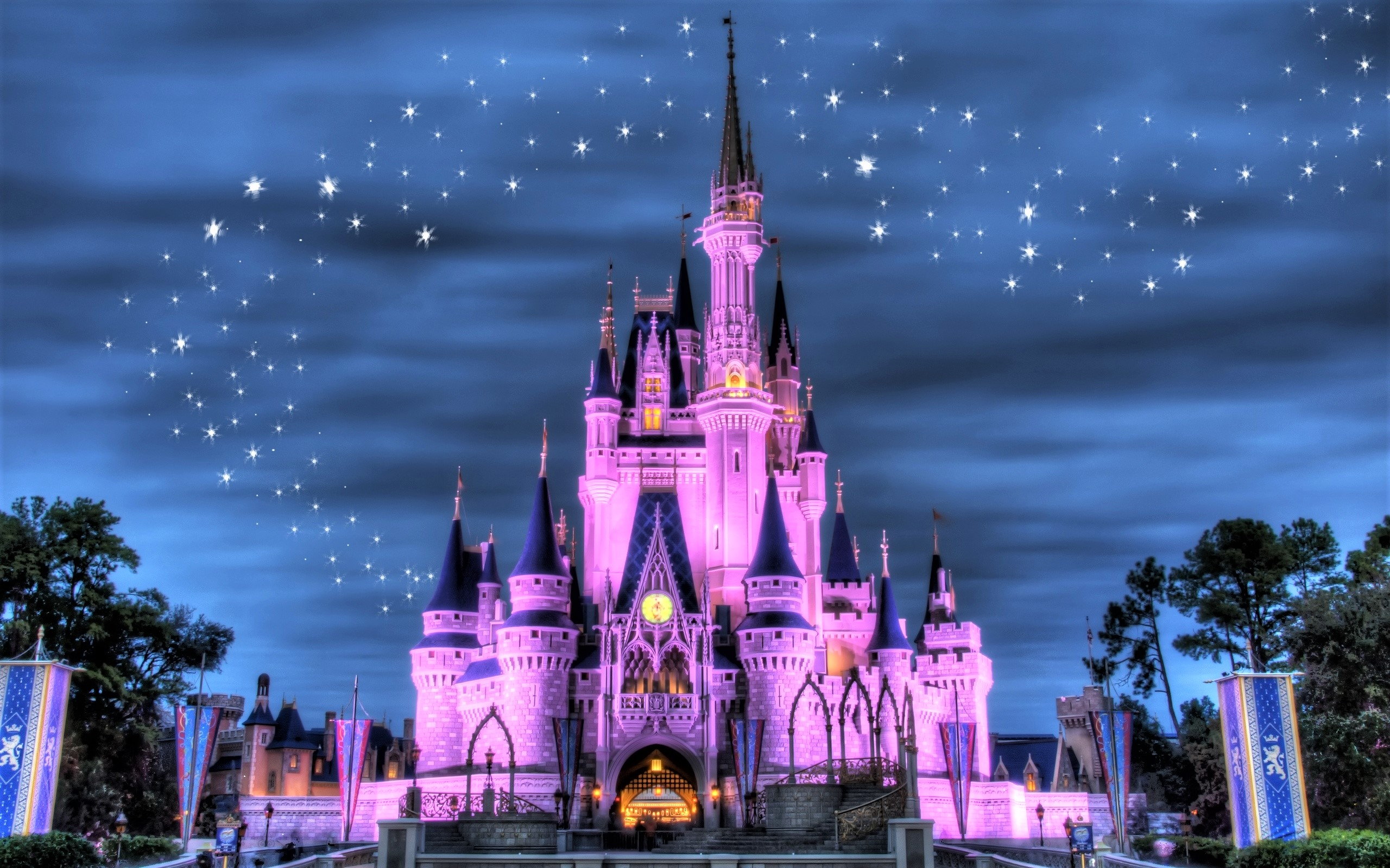 Disneyland Castle Full HD Wallpaper And Background Image
