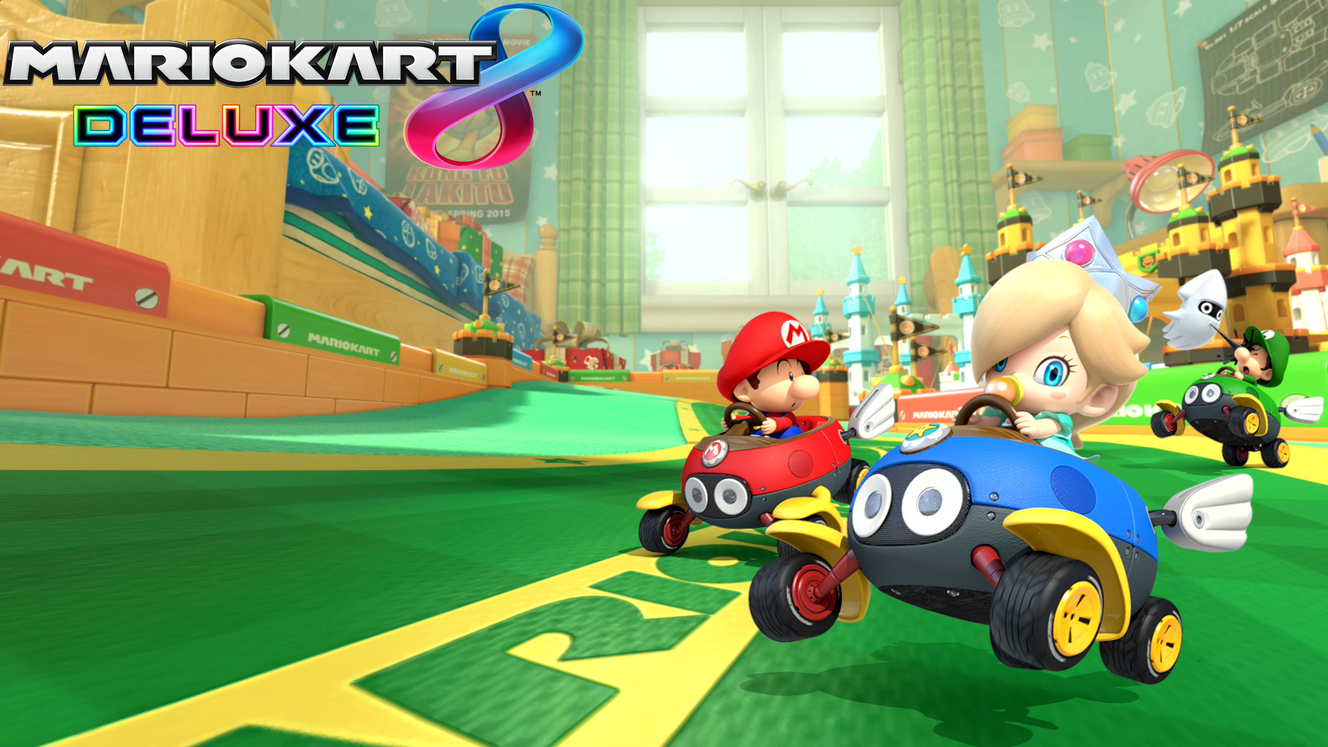 Mario Kart 8 Background: Mario Kart 8 Deluxe Baby Mario, Baby Luigi & Baby Rosalina