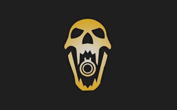 Video Game Tom Clancy's Rainbow Six: Siege Blackbeard Operation Dust Line Minimalist Skull Yellow HD Wallpaper   Background Image