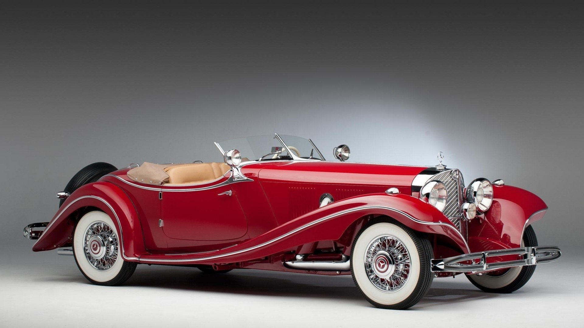 Vehicles - Mercedes-Benz 500K  Luxury Car Roadster Red Car Wallpaper