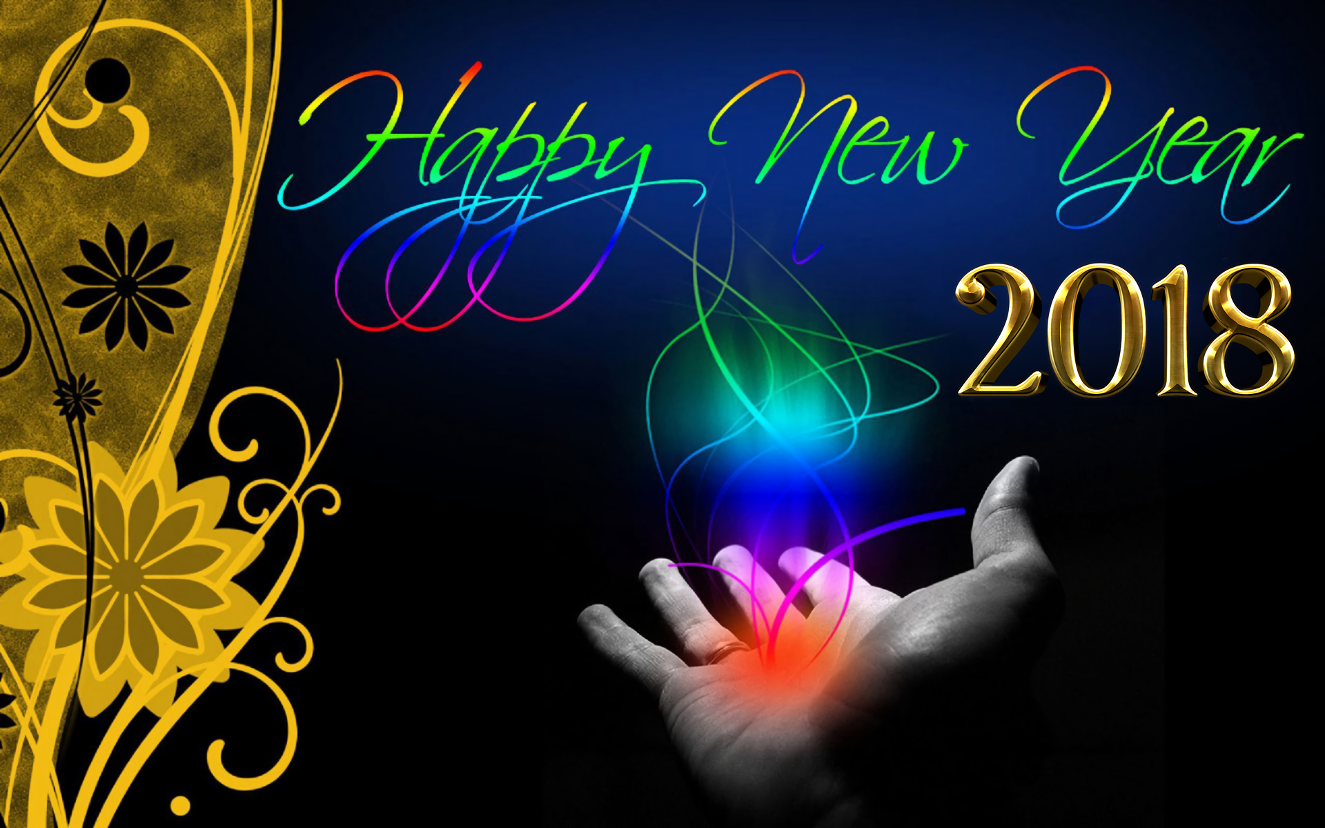 happy new year new year new year 2018 hd wallpaper background image id882484