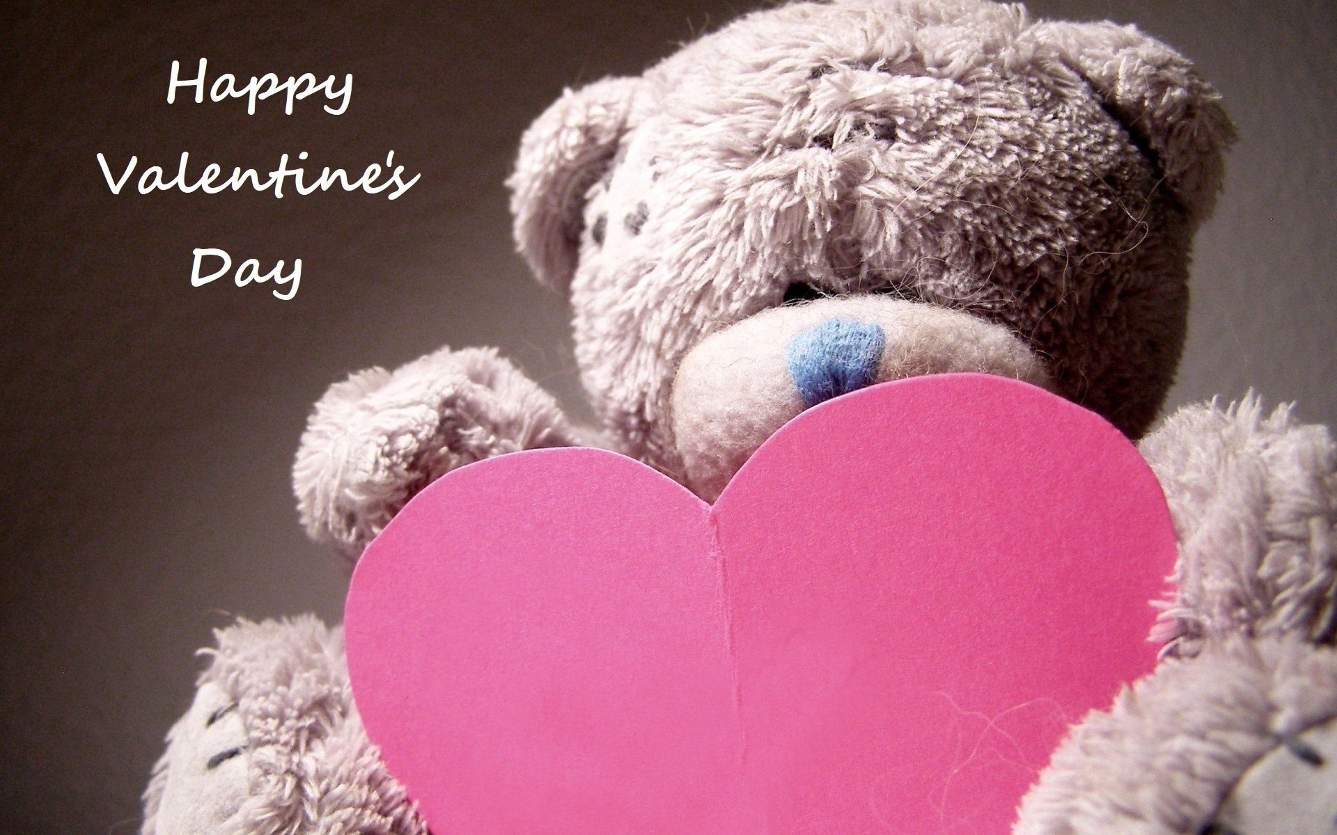 Holiday - Valentine's Day  Love Heart Teddy Bear Stuffed Animal Wallpaper