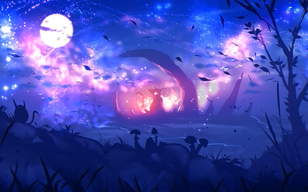 Anime Original Landscape Fantasy Planet Tree HD Wallpaper   Background Image