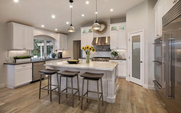 Man Made Room Design Furniture Kitchen HD Wallpaper | Background Image