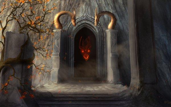 Fantasía Dragón Cueva Fondo de pantalla HD | Fondo de Escritorio
