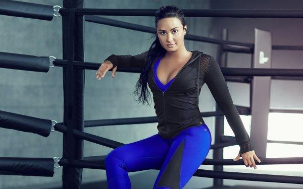Music Demi Lovato Singers United States Singer American Fitness Brunette Brown Eyes HD Wallpaper   Background Image