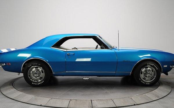 Vehicles Chevrolet Camaro Z28 Chevrolet Chevrolet Camaro Car Blue Car Muscle Car HD Wallpaper | Background Image