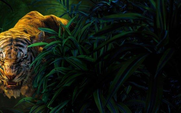 Películas El libro de la selva (2016) El libro de la selva Close-Up Shere Khan Tigre Fondo de pantalla HD | Fondo de Escritorio