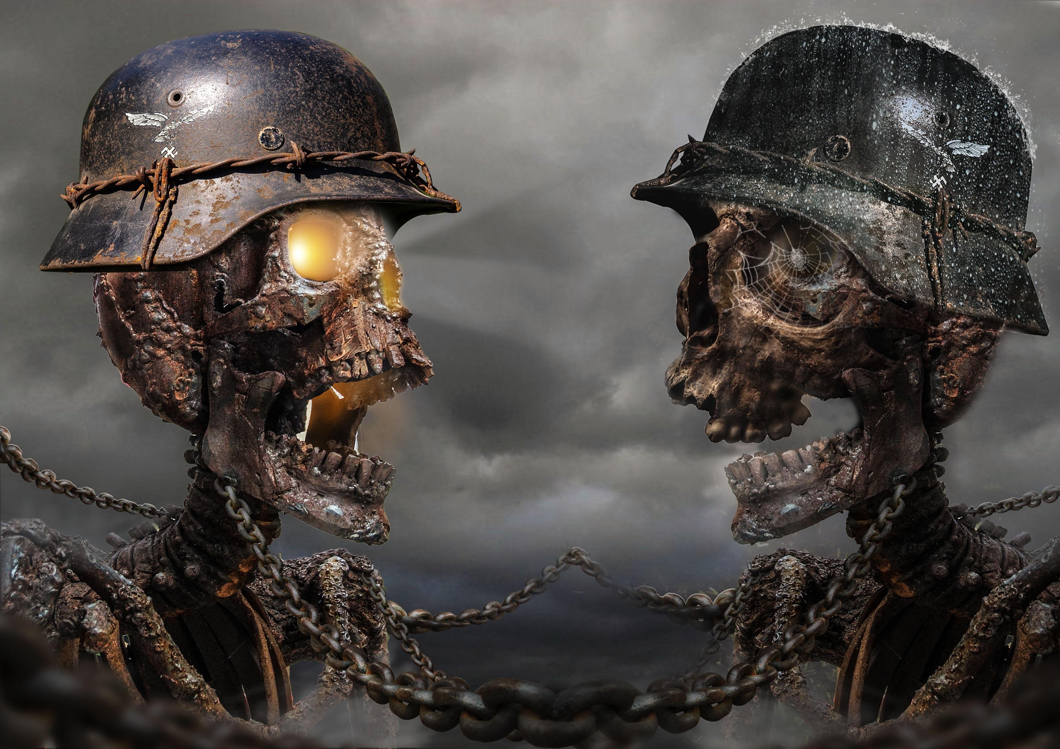Pubg Helmet Hd Wallpaper: German Soldier Skeletons HD Wallpaper