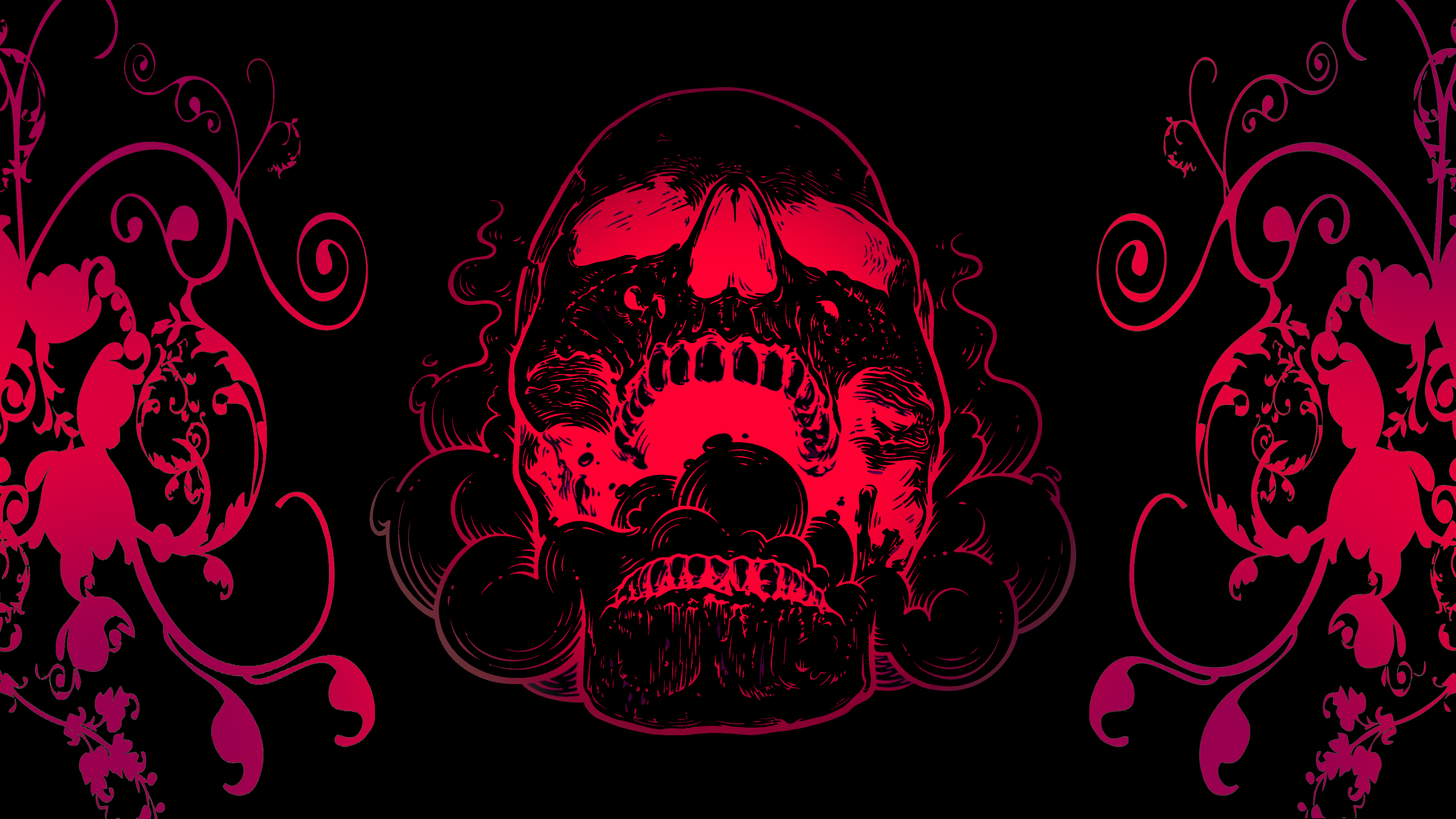 Black And Red Skull 4k Ultra Hd Wallpaper Background Image 3840x2160 Id 886752 Wallpaper Abyss