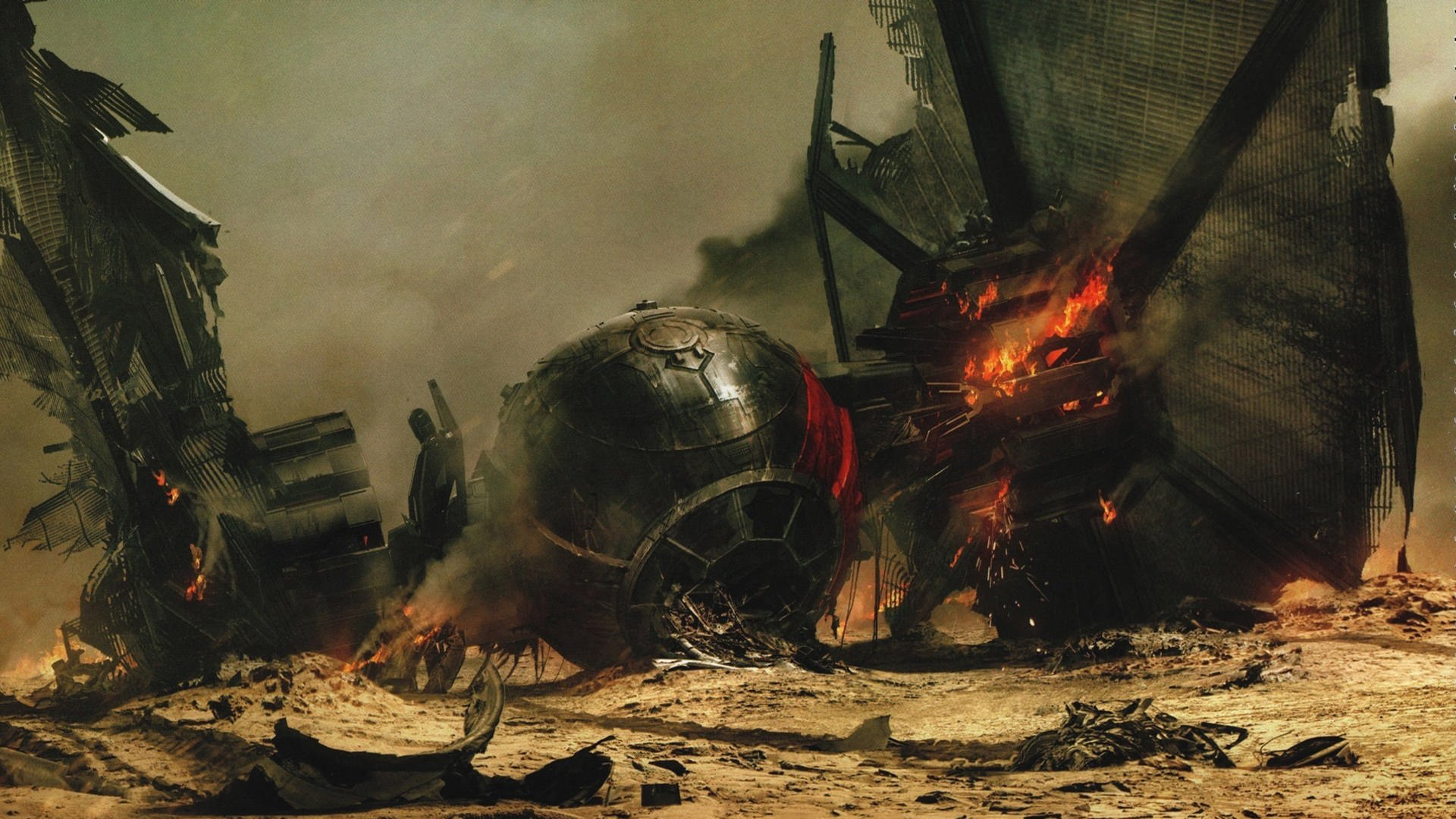 Movie - Star Wars Episode VII: The Force Awakens  Star Wars TIE Fighter Wallpaper