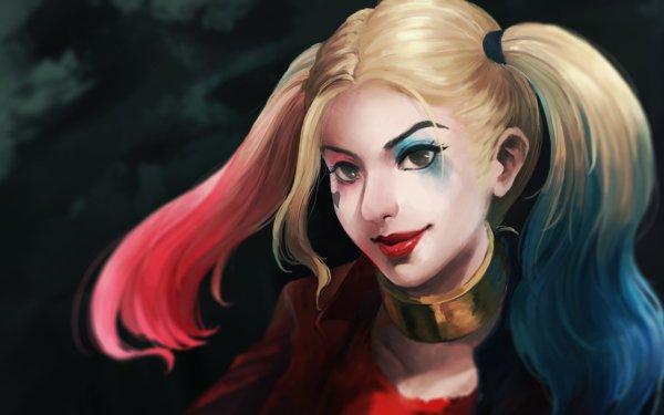 Comics Harley Quinn DC Comics Twintails Lipstick Face Blonde HD Wallpaper   Background Image
