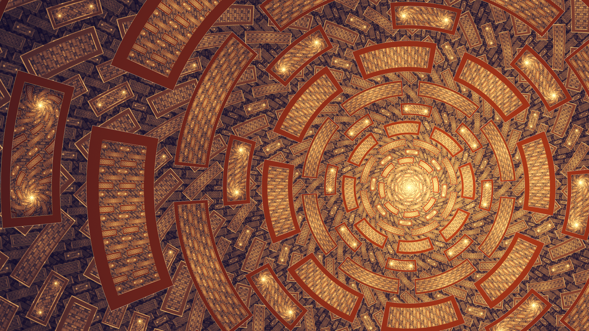 Abstract - Fractal  Artistic Tunnel Abstract Digital Wallpaper