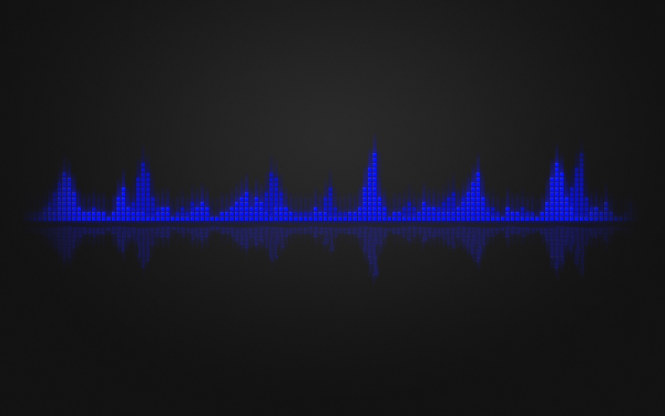 Abstract Black Equalizer Music Blue HD Wallpaper | Background Image